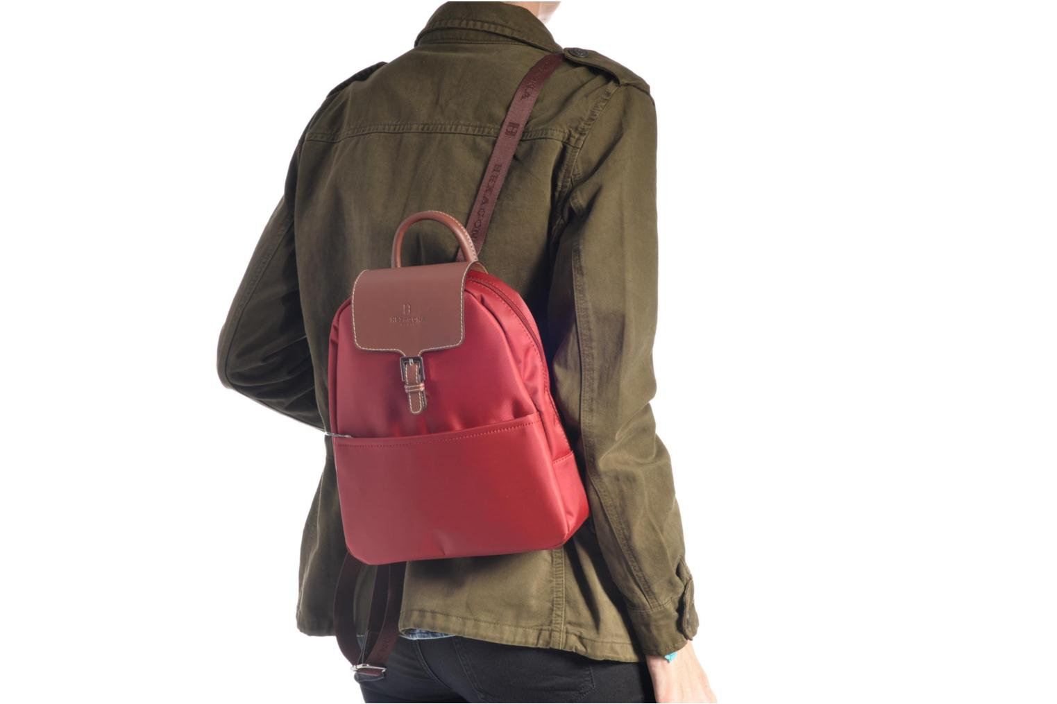 nylon Sac Hexagona à dos Rouge xqzqCvnw