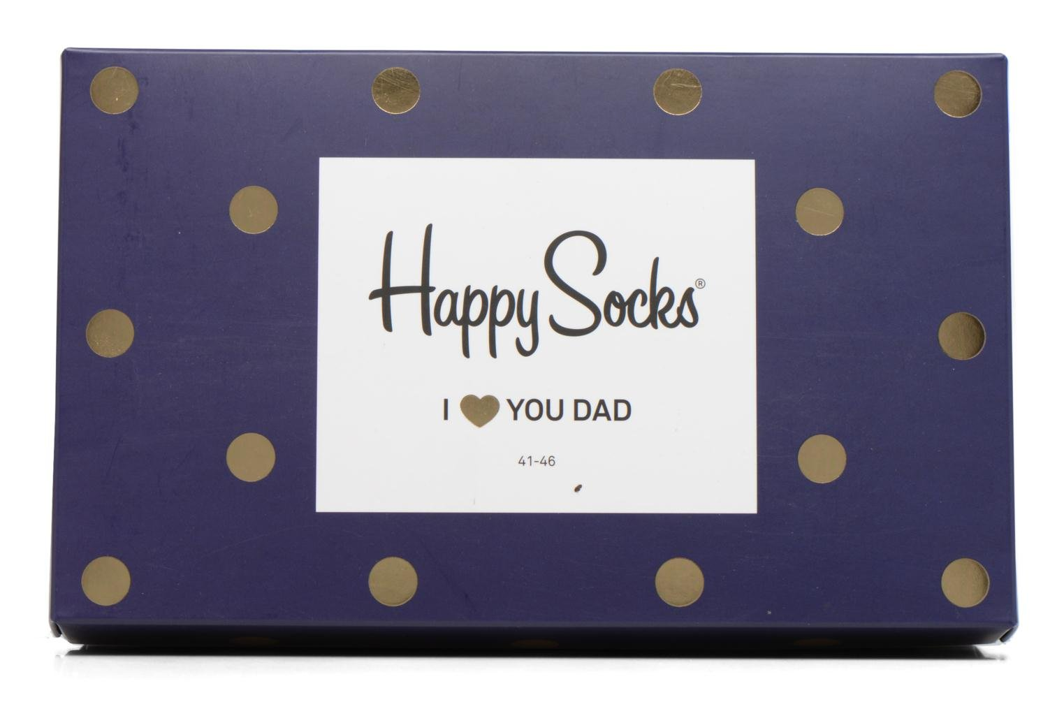 Socks & tights Happy Socks Chaussettes Dad Gift box Blue view from the left