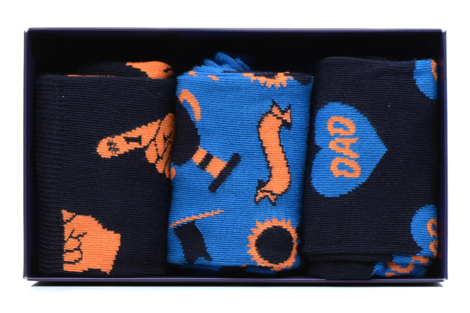 Socks & tights Happy Socks Chaussettes Dad Gift box Blue detailed view/ Pair view