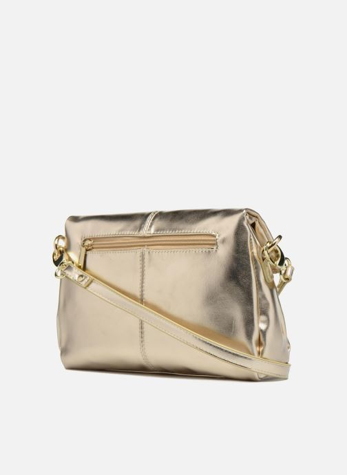 Handbags Mellow Yellow BUTIN Bronze and Gold view from the right