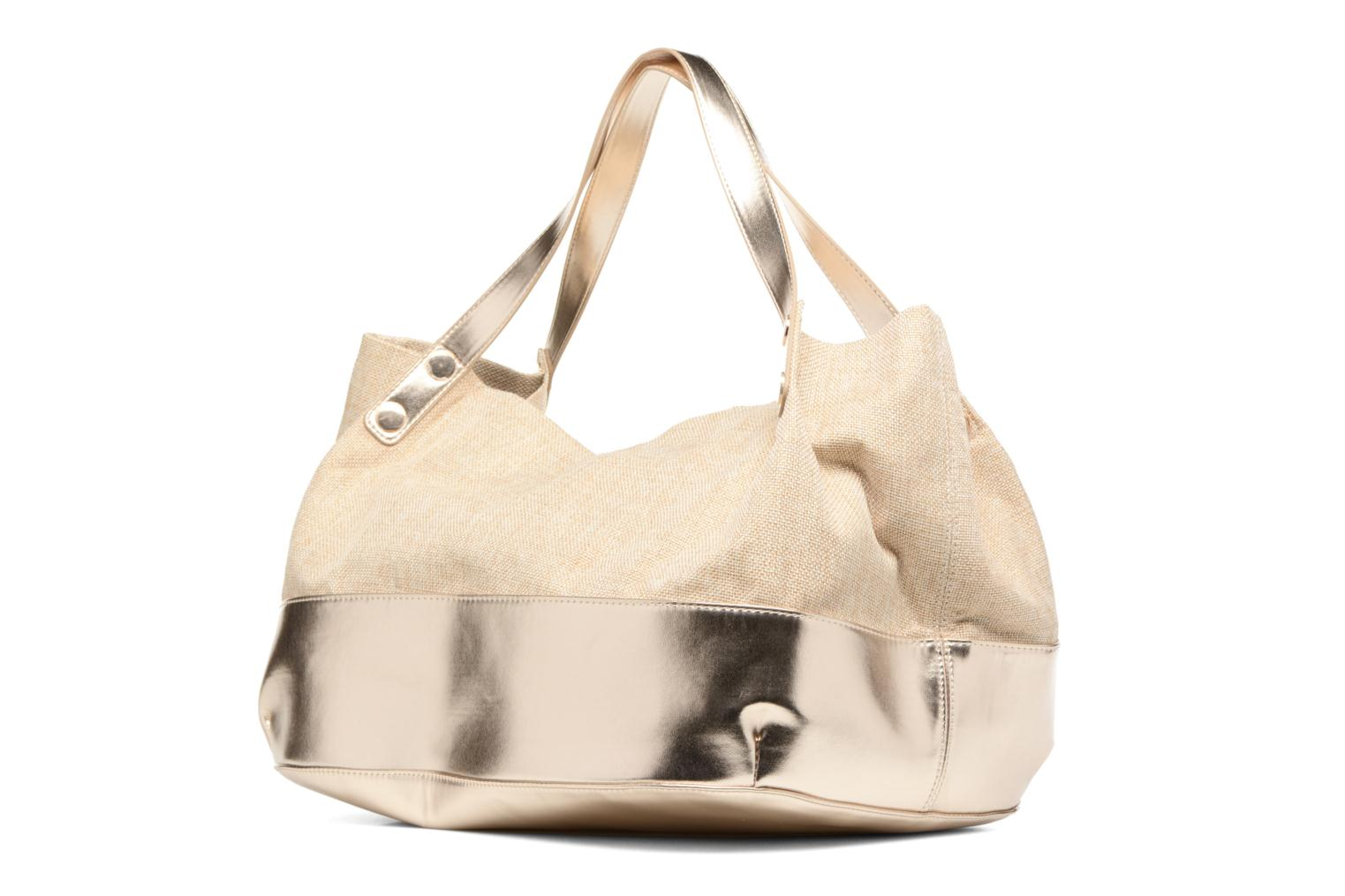 Handbags Mellow Yellow BUNNY Beige view from the right