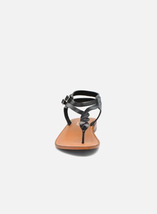Sandales et nu-pieds L'Atelier Tropézien Ava Noir vue portées chaussures