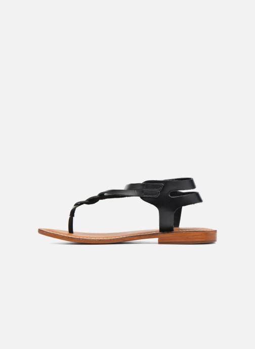 Sandales et nu-pieds L'Atelier Tropézien Ava Noir vue face