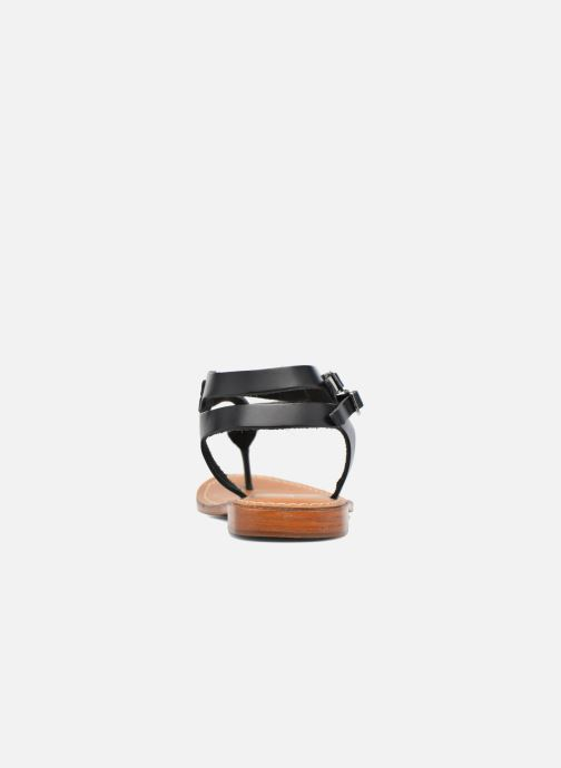 Sandals L'Atelier Tropézien Ava Black view from the right