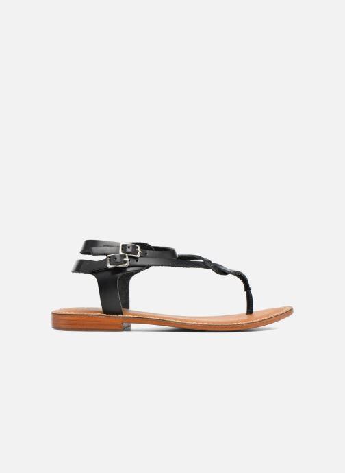 Sandales et nu-pieds L'Atelier Tropézien Ava Noir vue derrière
