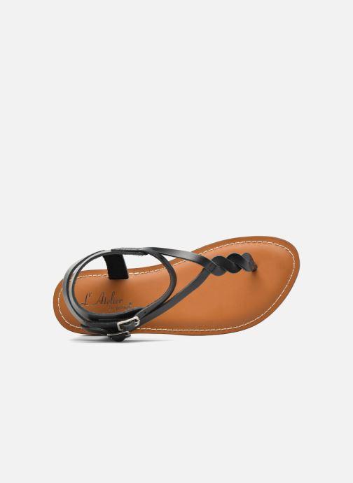 Sandales et nu-pieds L'Atelier Tropézien Ava Noir vue gauche