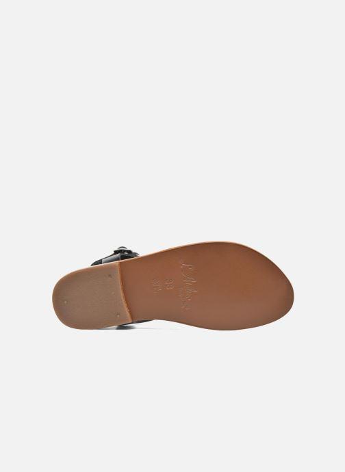 Sandales et nu-pieds L'Atelier Tropézien Ava Noir vue haut