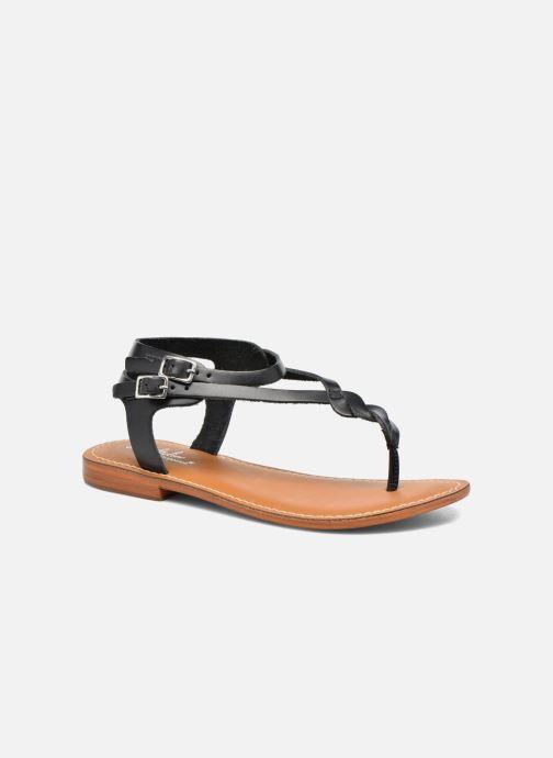 Sandales et nu-pieds L'Atelier Tropézien Ava Noir vue détail/paire
