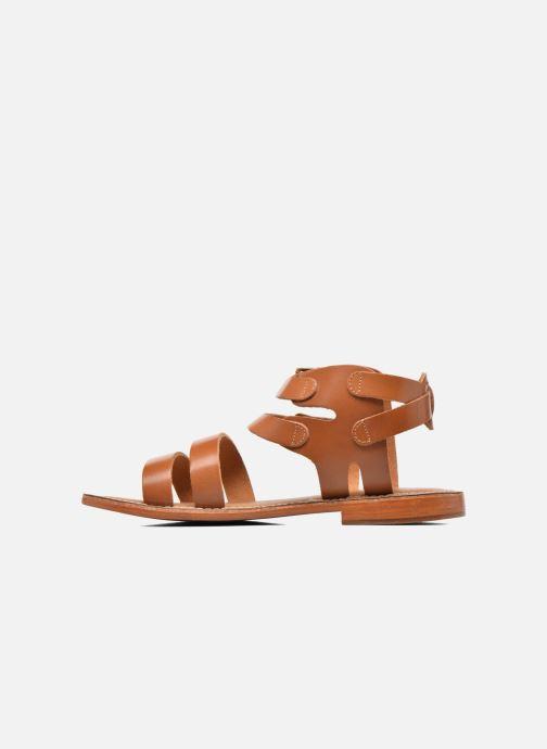 Sandales et nu-pieds L'Atelier Tropézien Liz Marron vue face