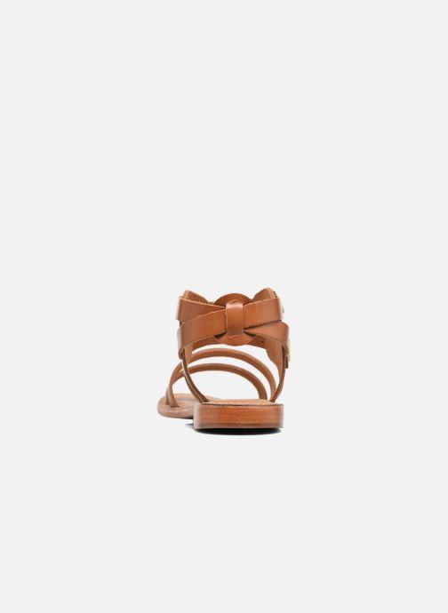 Sandales et nu-pieds L'Atelier Tropézien Liz Marron vue droite