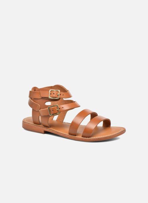 Sandales et nu-pieds L'Atelier Tropézien Liz Marron vue détail/paire