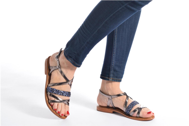 Sandales et nu-pieds L'Atelier Tropézien Juju Marron vue bas / vue portée sac
