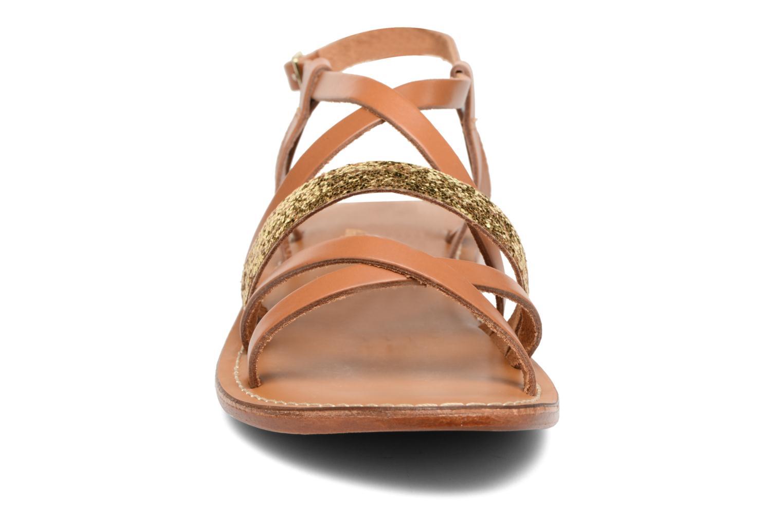 Sandales et nu-pieds L'Atelier Tropézien Juju Marron vue portées chaussures