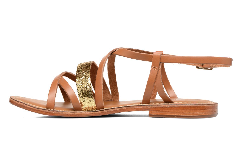 Sandales et nu-pieds L'Atelier Tropézien Juju Marron vue face