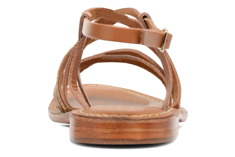 Sandales et nu-pieds L'Atelier Tropézien Juju Marron vue droite