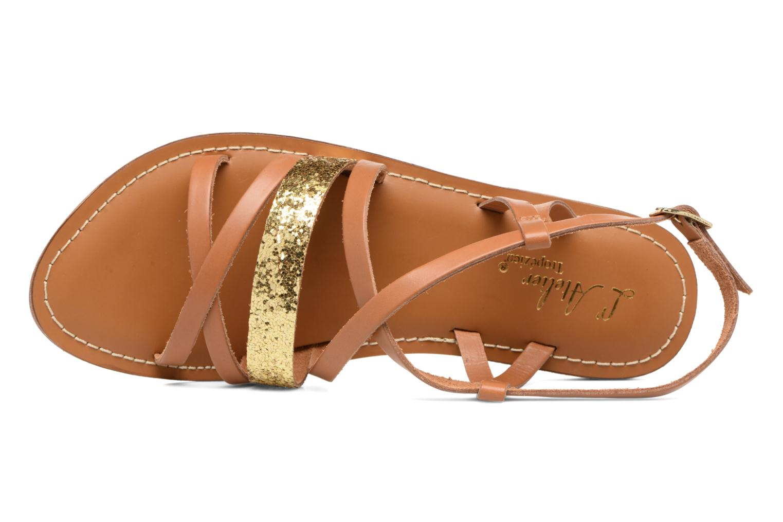 Sandales et nu-pieds L'Atelier Tropézien Juju Marron vue gauche