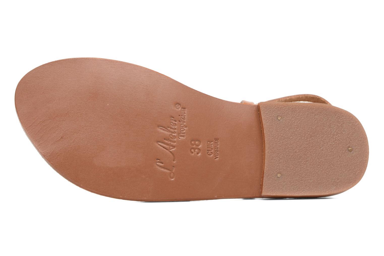 Sandales et nu-pieds L'Atelier Tropézien Juju Marron vue haut
