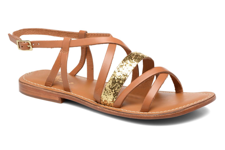 Sandales et nu-pieds L'Atelier Tropézien Juju Marron vue détail/paire