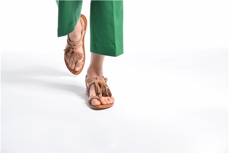 Sandalen L'Atelier Tropézien Martine beige ansicht von unten / tasche getragen