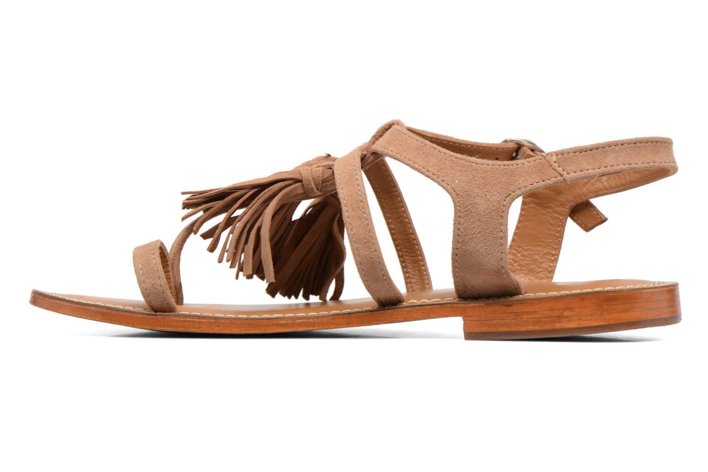 Sandalen L'Atelier Tropézien Martine beige ansicht von vorne