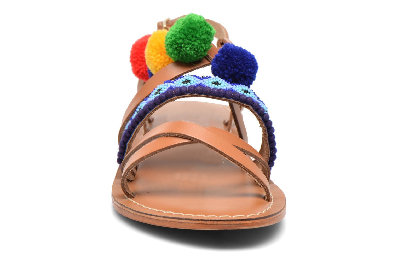 Sandals L'Atelier Tropézien Popo Brown model view