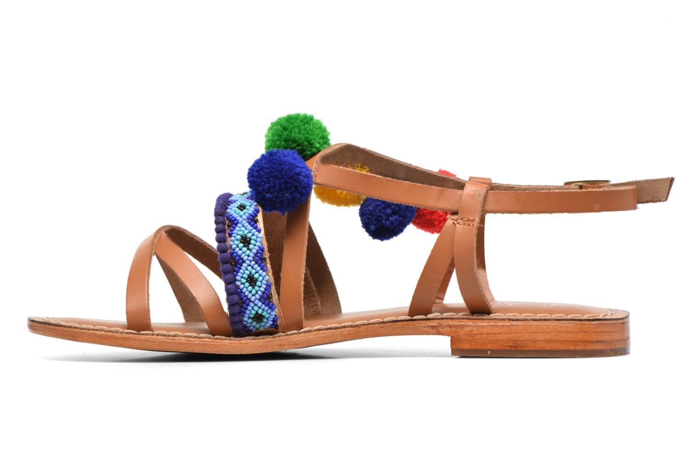 Sandals L'Atelier Tropézien Popo Brown front view