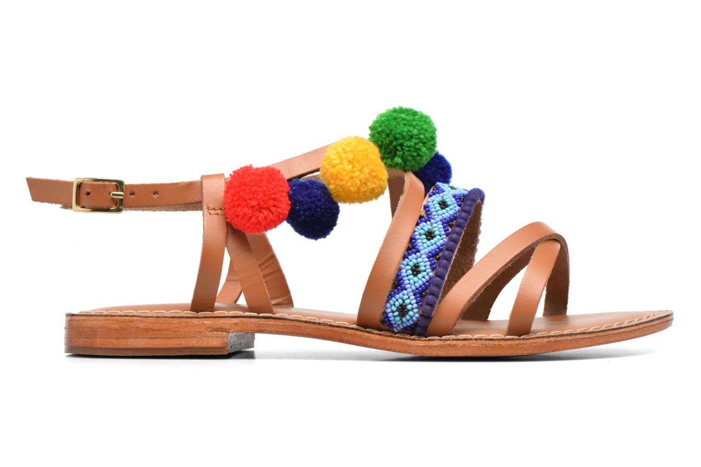 Sandals L'Atelier Tropézien Popo Brown back view