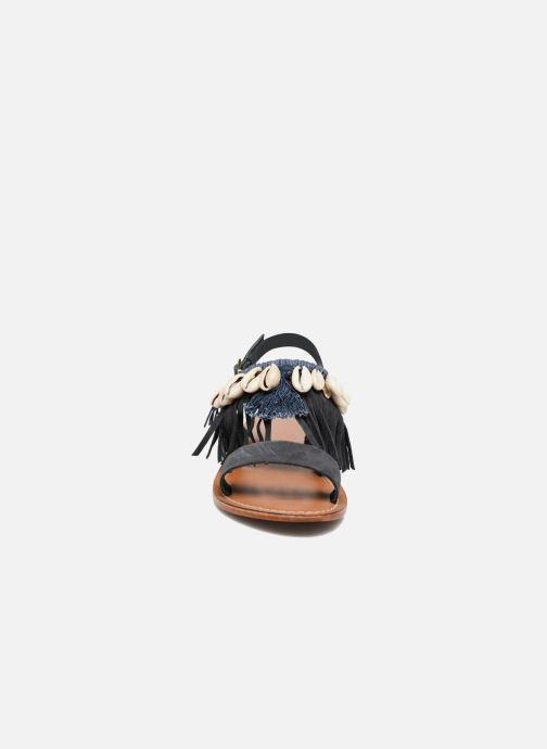 Sandales et nu-pieds L'Atelier Tropézien Shoshana Bleu vue portées chaussures