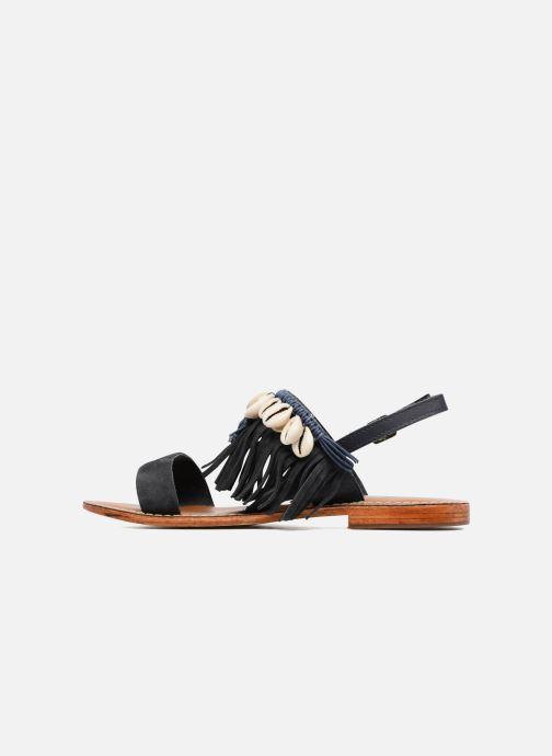 Sandales et nu-pieds L'Atelier Tropézien Shoshana Bleu vue face