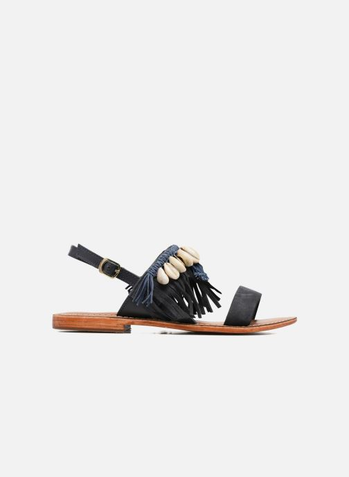 Sandales et nu-pieds L'Atelier Tropézien Shoshana Bleu vue derrière