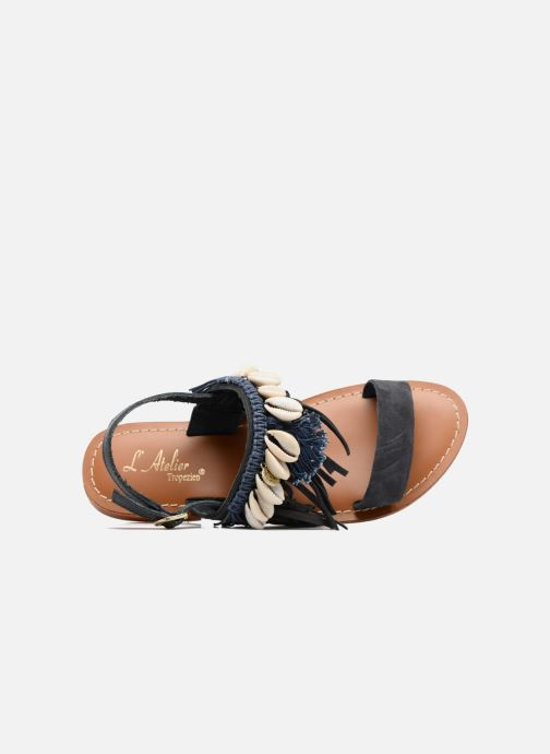 Sandales et nu-pieds L'Atelier Tropézien Shoshana Bleu vue gauche