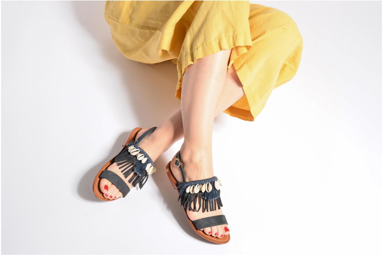 Sandali e scarpe aperte L'Atelier Tropézien Shoshana Marrone immagine dal basso