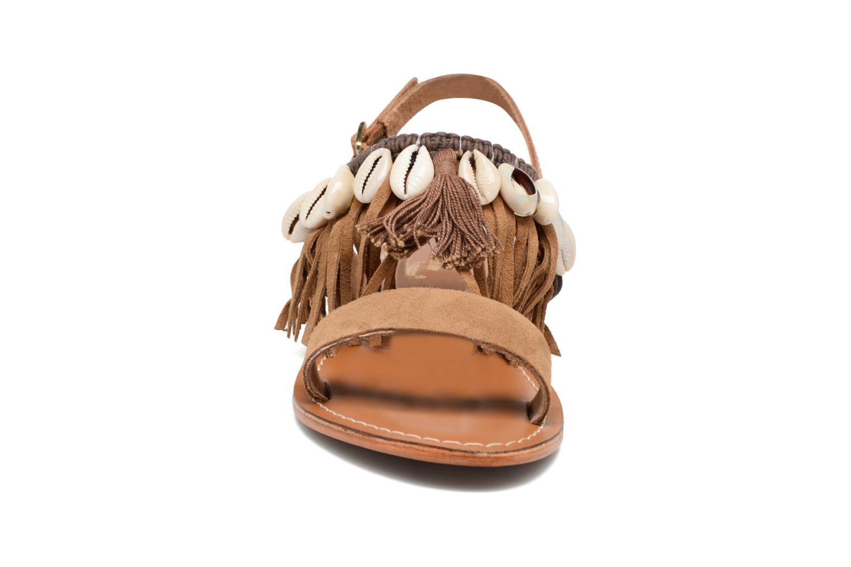 Sandali e scarpe aperte L'Atelier Tropézien Shoshana Marrone modello indossato
