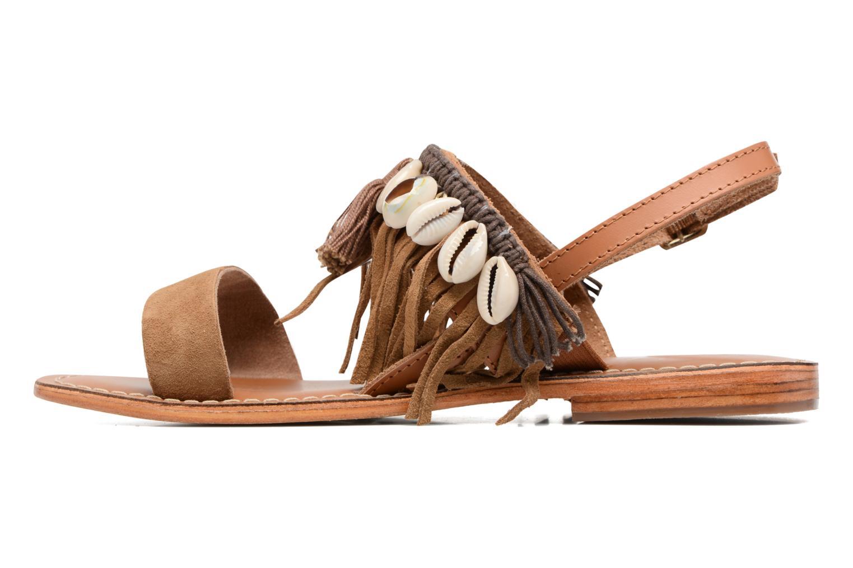Sandali e scarpe aperte L'Atelier Tropézien Shoshana Marrone immagine frontale