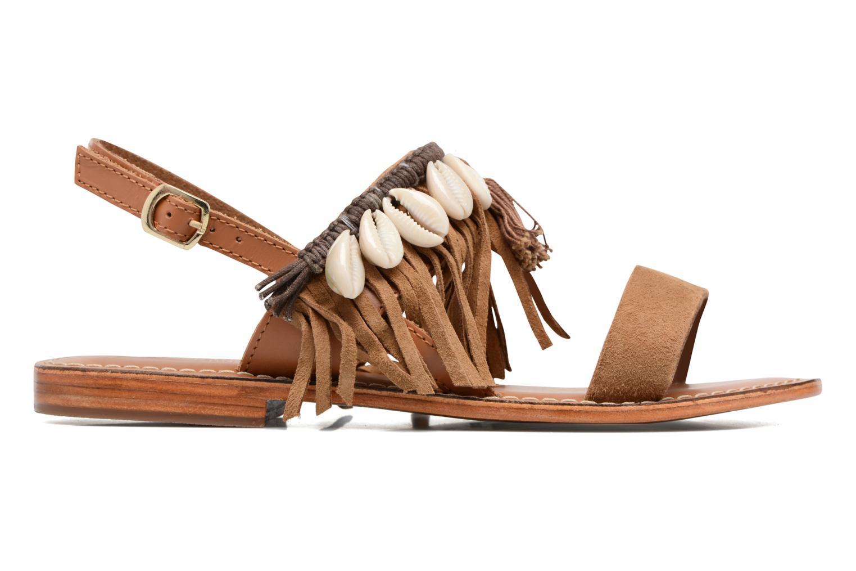 Sandali e scarpe aperte L'Atelier Tropézien Shoshana Marrone immagine posteriore