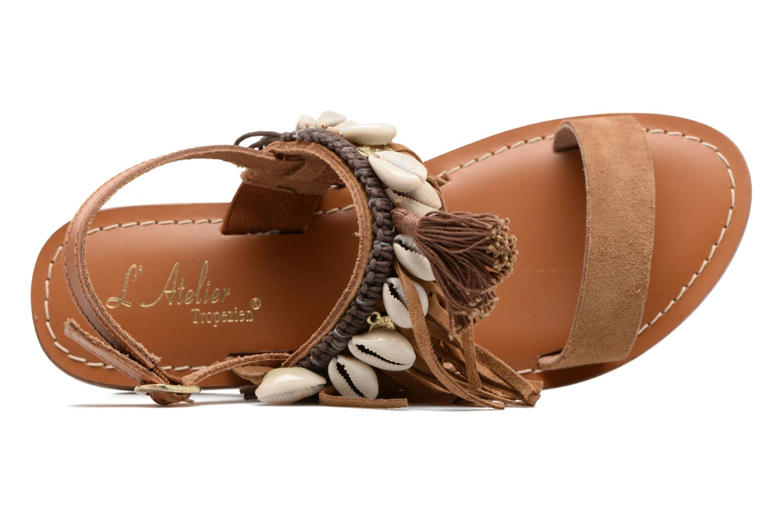 Sandali e scarpe aperte L'Atelier Tropézien Shoshana Marrone immagine sinistra