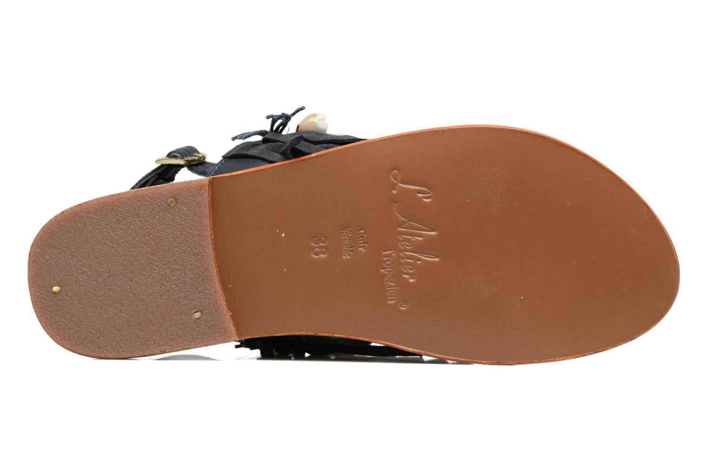 Sandales et nu-pieds L'Atelier Tropézien Shoshana Bleu vue haut