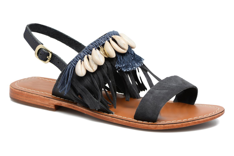 Sandales et nu-pieds L'Atelier Tropézien Shoshana Bleu vue détail/paire