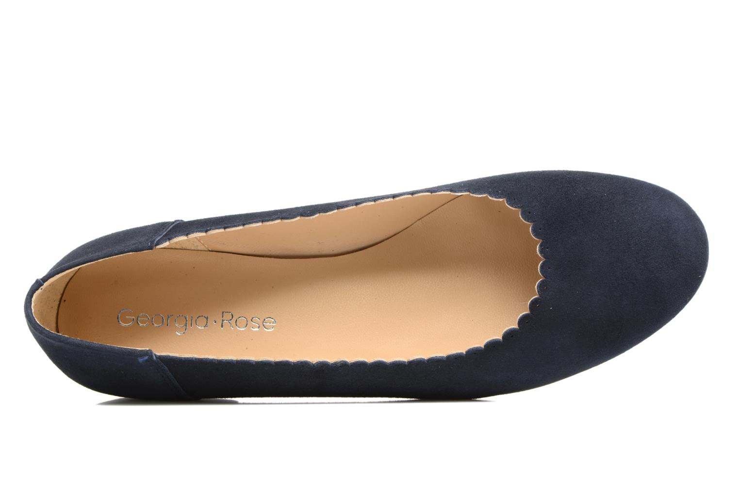 Ballerinas Georgia Rose Sanfeston blau ansicht von links