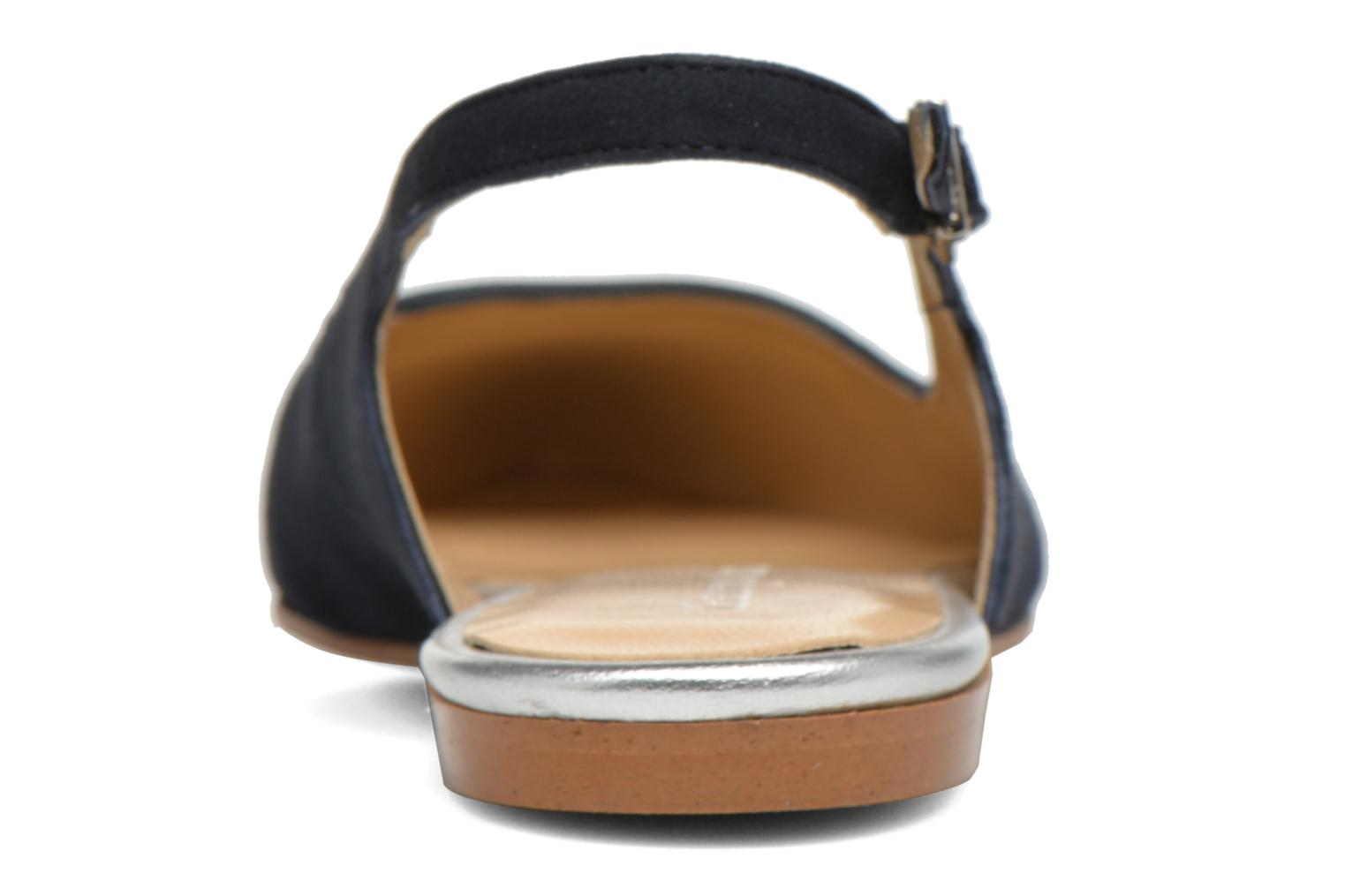 Ballet pumps Georgia Rose Sanbac Blue view from the right