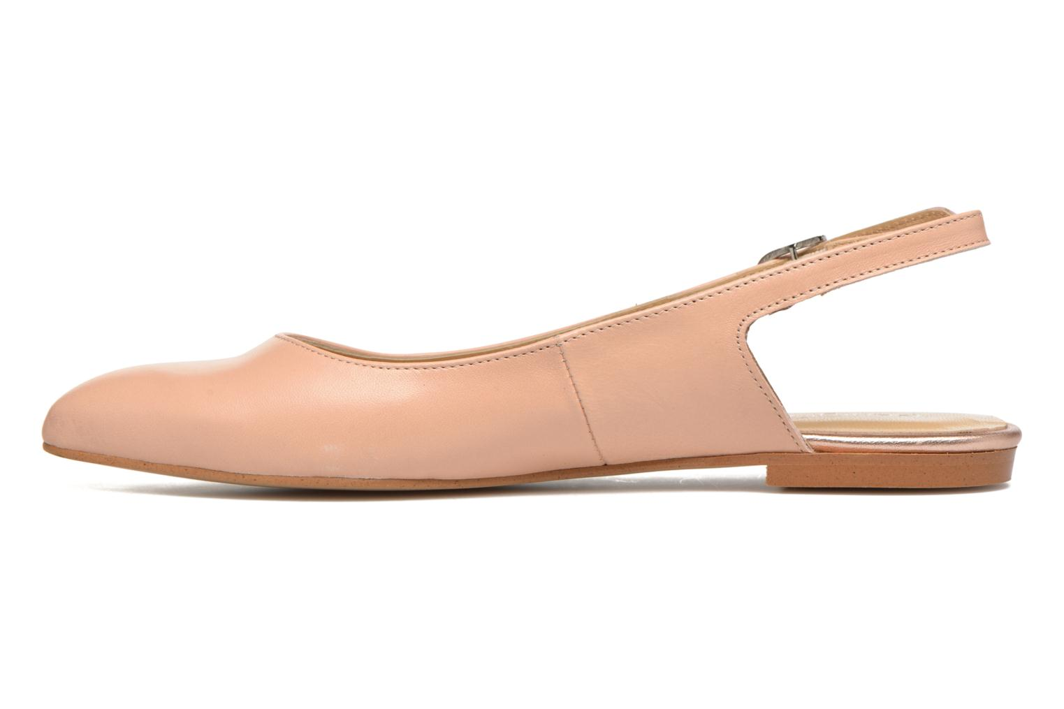 Ballet pumps Georgia Rose Sanbac Beige front view