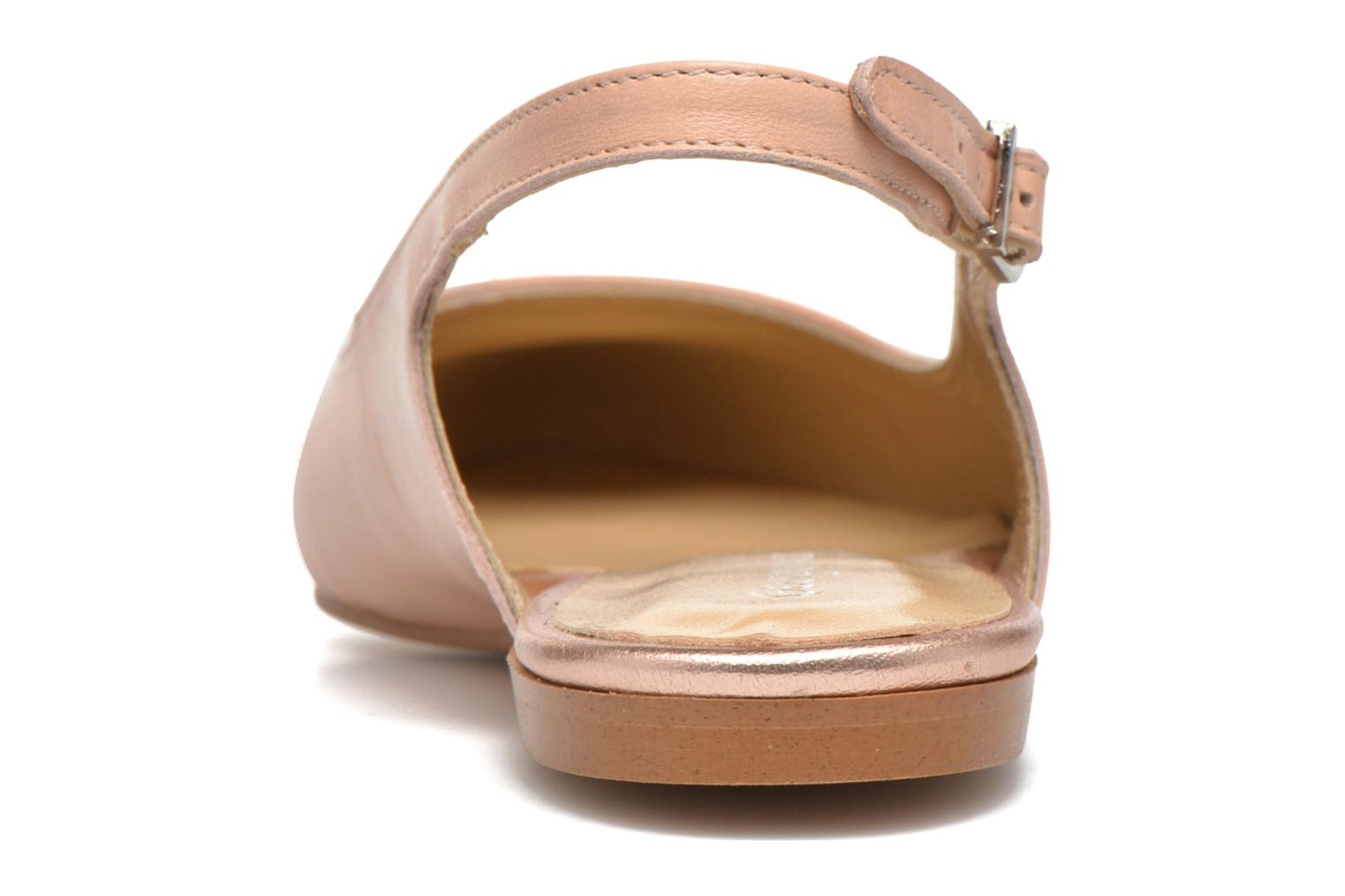 Ballet pumps Georgia Rose Sanbac Beige view from the right