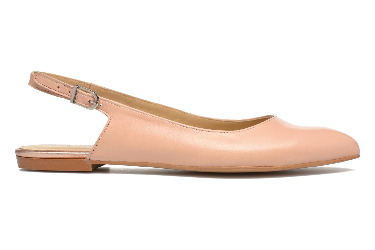 Ballet pumps Georgia Rose Sanbac Beige back view