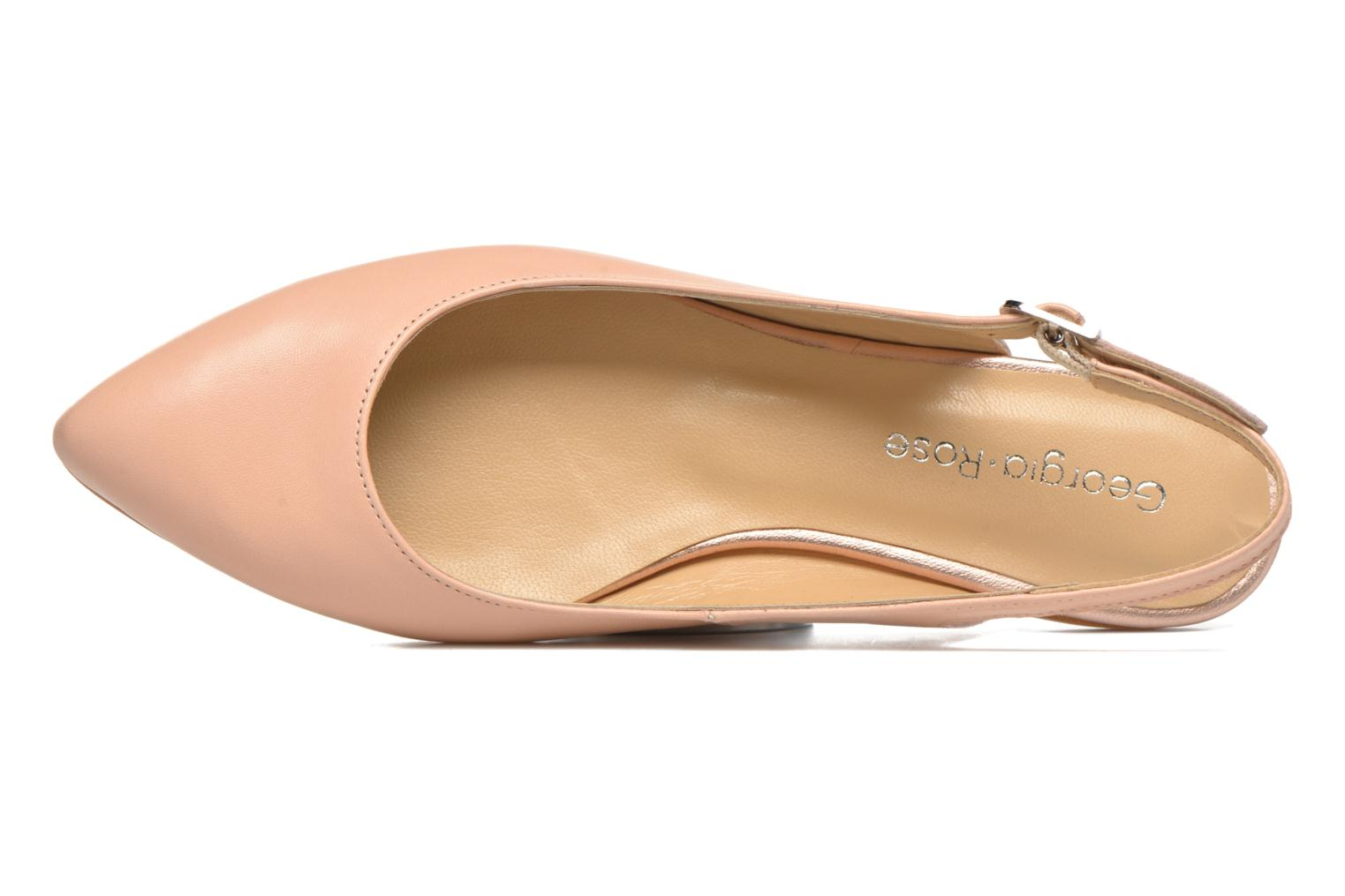 Ballet pumps Georgia Rose Sanbac Beige view from the left
