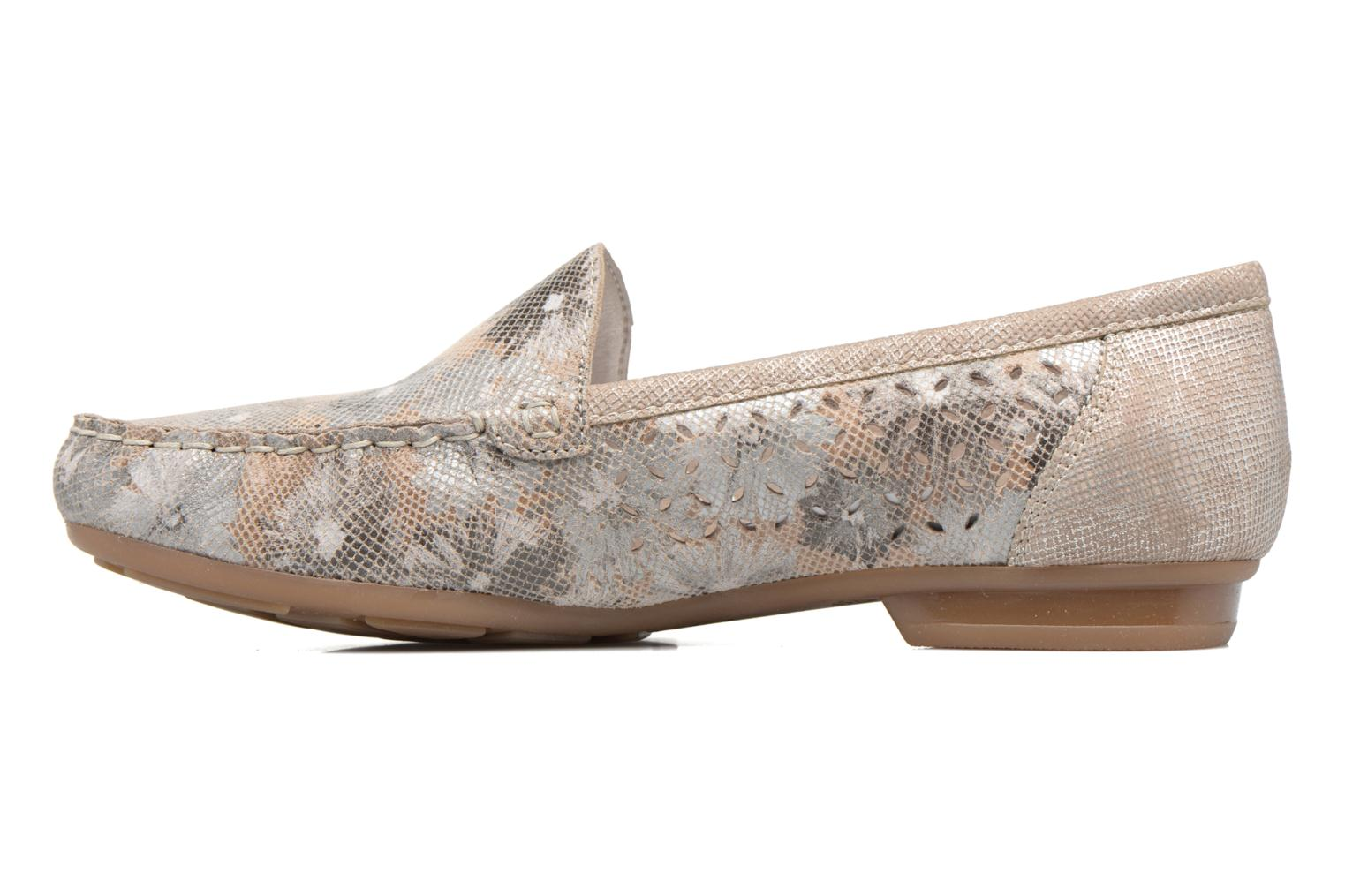 Loafers Rieker Cisa 40089 Beige front view
