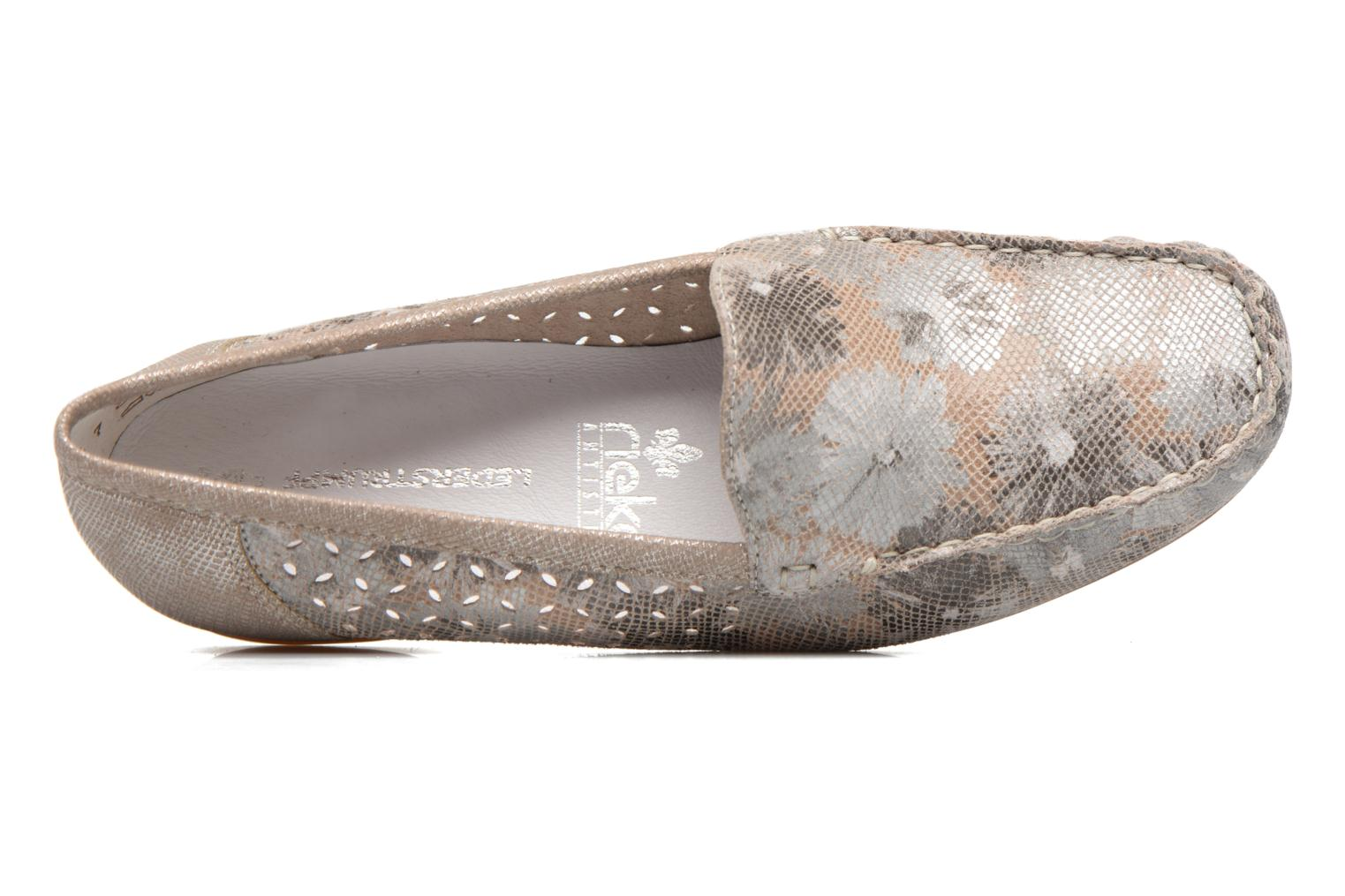 Loafers Rieker Cisa 40089 Beige view from the left