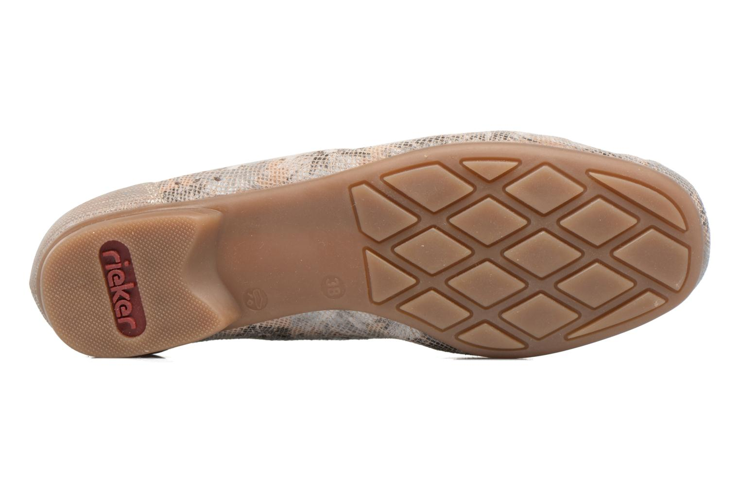 Loafers Rieker Cisa 40089 Beige view from above