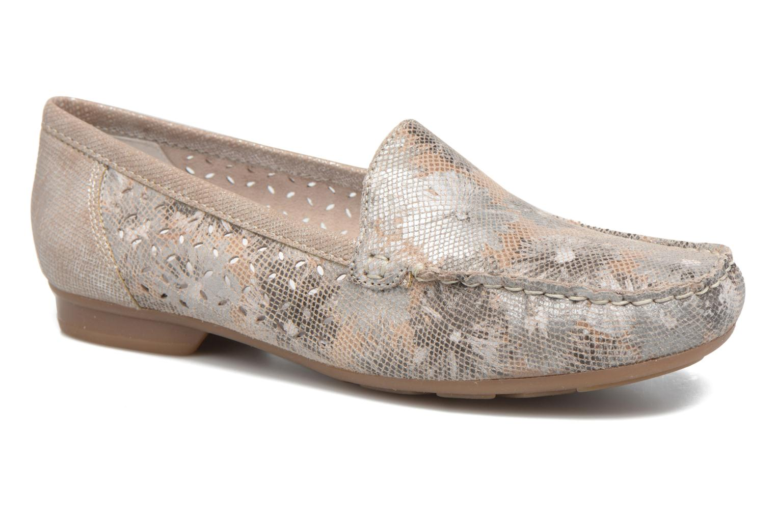 Loafers Rieker Cisa 40089 Beige detailed view/ Pair view