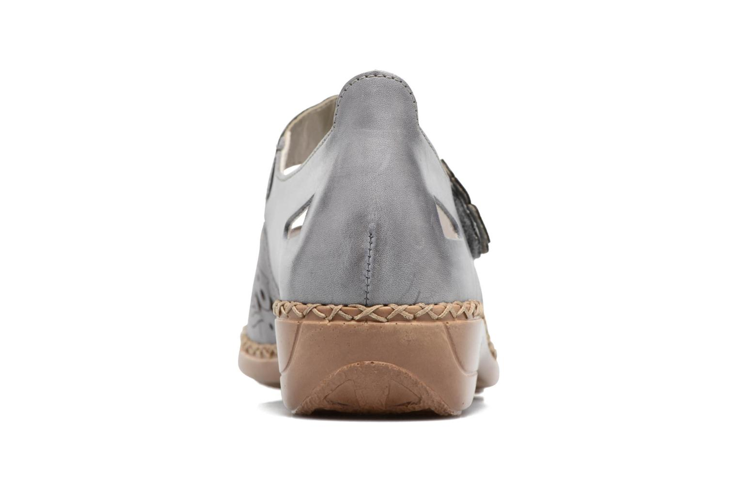 Ballet pumps Rieker Réa 41358 Blue view from the right