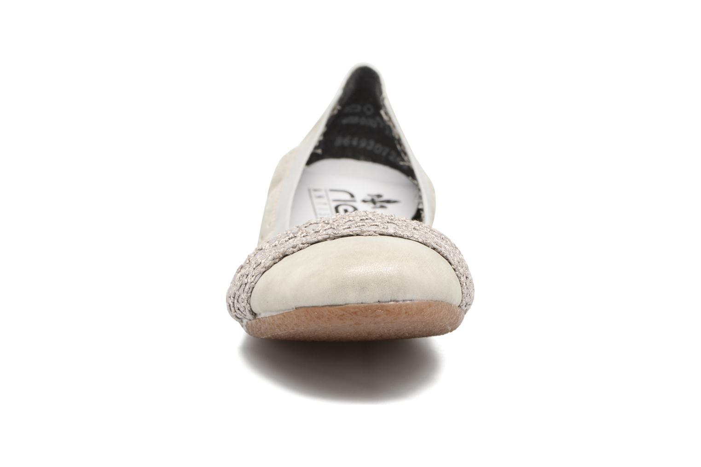 Ballerines Rieker Cesia 41487 Gris vue portées chaussures